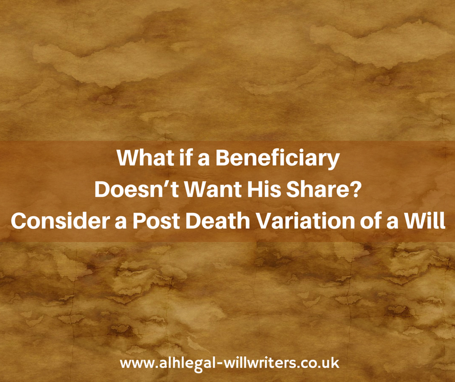 Post Death Variation of a Will