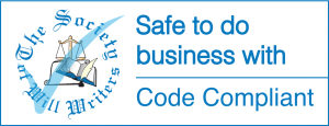 The Society of Will Writers Code Compliant logo